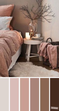 Earth Tone Colors For Bedroom. Mauve and brown color scheme for bedroom - Earth Tone Colors For Bedroom. Earth Tone Colors For Bedroom, mauve color scheme for bedroom, color palette, mauve color palette, Mauve and brown color inspiration for home decor Bedroom Colour Schemes Neutral, Brown Color Schemes, Brown Colors, Room Color Ideas Bedroom, Calming Bedroom Colors, Home Color Schemes, Small Bedroom Paint Colors, Interior Design Color Schemes, Apartment Color Schemes