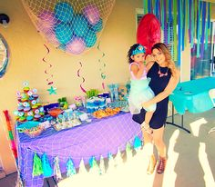 The little mermaid third birthday party under the sea toddler