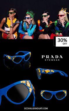 """Prada Voice -30% su OcchialiGraduati.com - """"Spedizione Gratuita"""" #prada #shopping #style #ss2014 #summer #fashion #glassesonline #woman"""