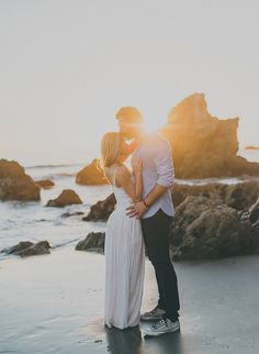 These two couldn't be cuter in their rustic glam Malibu engagement session! The pair is taking our wedding blog by storm with the little-bit-fancy, lot-of-fun, photos.