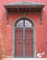 The entry to Morocco's Rabat synagogue.