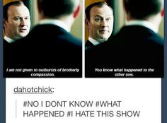 No we all love a good mystery that keeps us waiting for a new season even if it drives us mad and not just a little