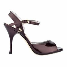 Bandolera Tango Shoe Dalilia in Eggplant, 9 cm heel