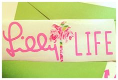 Lilly Pulitzer life car decal by UptownSouth on Etsy