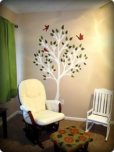 the finally-finished tree mural painted on our nursery wall! Mural Painting, Mural Art, Paintings, Mural Ideas, Playroom, Sweet Home, Youth, Nursery, Wall Decor