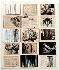 Paintings on vintage books by Ekaterina Panikanova - Artists Inspire Artists