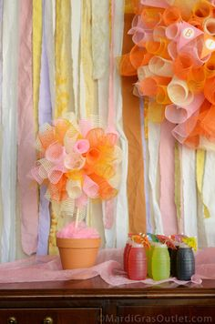 Party Ideas by Mardi Gras Outlet: Sweet Summer Party Ideas with Deco Mesh