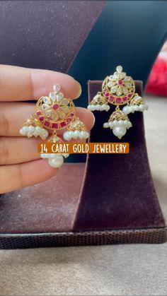 Ear Cuff Jewelry, Jewelry Design Earrings, Gold Earrings Designs, Gold Jewelry, Diamond Jewelry, Jewellery Designs, Necklace Designs, Bridal Jewelry, Beaded Jewelry
