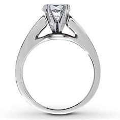 Diamond Ring Setting 1/6 ct tw Round-cut 14K White Gold