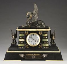 French Egyptian Revival clock