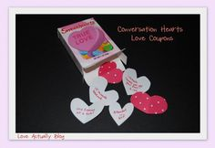 Sweet & Simple Gifts with Conversation Hearts......Unique DIY Gifts for Valentines day....#gift #valentine #holiday #celebration #romantic #handmade