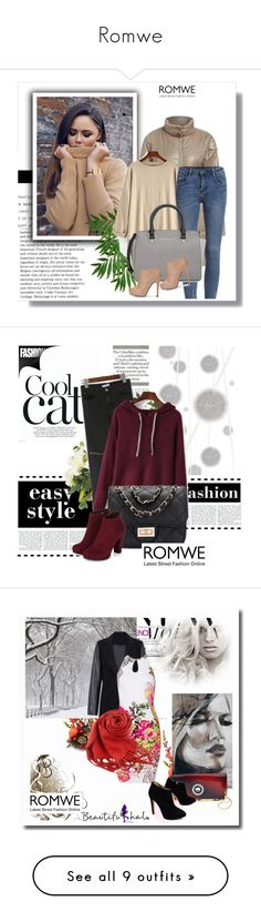 """Romwe"" by amelaa-16 ❤ liked on Polyvore featuring Nearly Natural, Chanel, New Growth Designs and romwe"