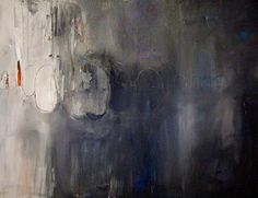 Blaubeersommer, abstrakte Malerei, 80/80 cm