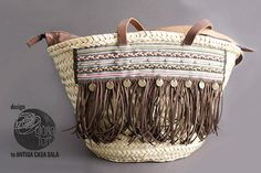 DIY CISTELL-BOHO-Gloria-Fort Bucket Bag, Straw Bag, Boho, Bracelets, Diy, Stuff To Buy, Inspiration, Jewelry, Design