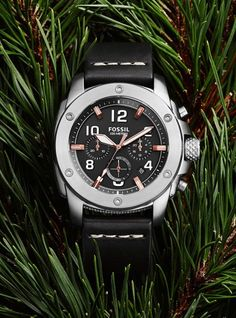 Stainless Steel & Leather Watches   FOSSIL Machine Watch Collection