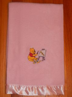 Winnie the Pooh Pink Fleece Baby Blanket by CraftingByTheWayside $12.00 #craftshout0211