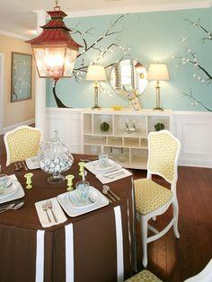 Love the chairs, light & buffet