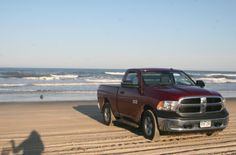 The Red Truck has been my partner in adventures.  This is a FIRM beach for Carova.