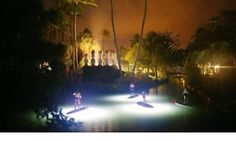 Night time Stand Up Paddle Boarding at Polynesian Cultural Center! Groupon - Up to 50% Off Moonlight Paddle Board or Kayak Tour  at North Shore Explorers in Koolauloa. Groupon deal price: $75