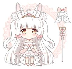 1/2 chibi commission for melonbunni!! ah this character is so cute i had fun drawing her ~ ♥ thank you for the commission! the other should be done soon! done in sai / ps please do not use / ...