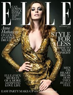 Anne Hathaway Elle UK Magazine Cover