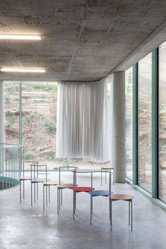 Bruther - Residence for Researchers, Maison Julie-Victoire Daubié, Paris, FR Bruther Architecture, Deco Furniture, Furniture Design, Bedroom Furniture, Interior Decorating, Interior Design, Curtain Designs, Julie, Lounge