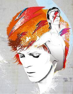 David Bowie Ziggy Stardust Fan Art Collage Fabric Block - Great for Quilting, Pillows & Wall Art - Buy Get 1 FREE David Bowie Art, David Bowie Ziggy, Rock N Roll, Bowie Ziggy Stardust, Major Tom, Star Wars, Fan Art, Cultura Pop, Sculpture