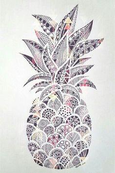 Pinapple white and black от LuXuRyStYlEs️ | We Heart It
