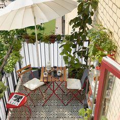 TÄRNÖ Mesa y 2 sillas, exterior - rojo/tinte café claro - IKEA Outdoor Table Tops, Outdoor Dining, Outdoor Chairs, Outdoor Furniture, Outdoor Decor, Ikea Outdoor, Ikea Patio, Dining Furniture, Balcony Table And Chairs