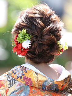 Hair Arrange, Aqua, Kimono, Long Hair Styles, Flowers, Wedding, Japanese Hairstyles, Beauty, Fashion