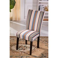 Add some wild flair to your decor with these elegant Parson chairs. Combining fashion with comfort, these chair have a contoured back and a comfortable seating cushion.