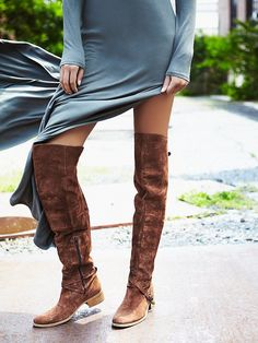 Charles David Amorosa Suede Over The Knee Boot at Free People Clothing Boutique