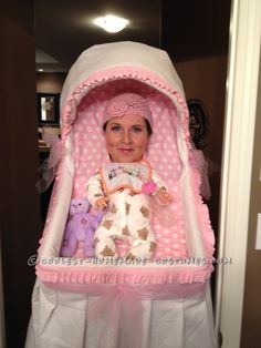 Best Homemade Baby Bassinet Illusion Costume!...
