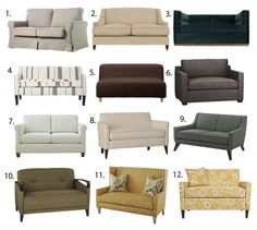 In this supersized world, sometimes finding small space furniture can be a challenge. Case in point: small sofas. I'm currently looking for a sofa but it can't be any larger than 60 inches. My research is your gain, fellow small space dweller.
