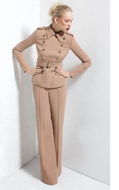 Celebrities who wear, use, or own Rachel Zoe Belted Military Jacket and Wide Leg Pants. Also discover the movies, TV shows, and events associated with Rachel Zoe Belted Military Jacket and Wide Leg Pants. Fashion Line, Suit Fashion, Fashion Outfits, Womens Fashion, Office Fashion, Work Fashion, Rachel Zoe Clothing, Rachel Zoe Collection, Suits For Women