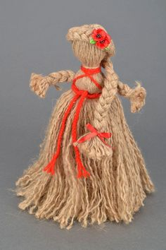 how to make doll from wool
