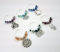 Mystical Magical Wine Charms  by Mistress Jennie on Etsy