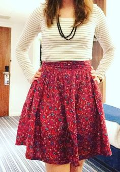 Vicki's Clemence skirt - sewing pattern in Love at First Stitch