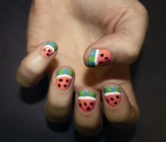 Shout's Lucy rocking watermelon nails!