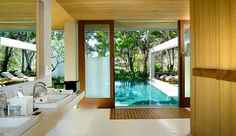 The Balé, Nusa Dua: In each pavilion, floor-to-ceiling windows and a sliding door let the lush tropical surroundings in.