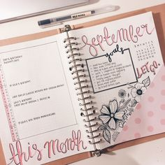 "the-girlygeek: ""I feel like this isn't too shabby for my first 'proper' month of bullet journaling. Just looking at it makes me feel happy :))) """