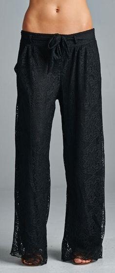 Black Lace Comfy Pants