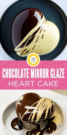 This gorgeous shiny chocolate mirror glaze cake covers a creamy mousse and strawberry filling and li Mirror Glaze Recipe, Mirror Glaze Cake, Mirror Cakes, Cake Decorating Techniques, Cake Decorating Tutorials, Cupcakes, Cupcake Cakes, Chocolate Mirror Glaze, Chocolate Glaze Cake