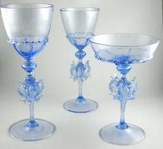 Set of 42 Murano/Venetian drinking glasses Glass Bottles, Wine Glass, Glass Art, Venetian Glass, Murano Glass, Types Of Glassware, Drinking Glass, Porcelain Ceramics, Colored Glass