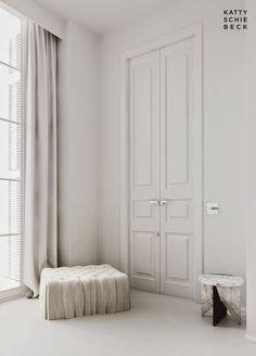 Stately & simple tall doors and windows : New Project Eixample, Barcelona designed by Katty Schiebeck