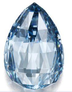Flawless 10.48 carat deep blue diamond