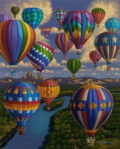 Dowdle Folk Art Colecionadores quebra-cabeça Festival De Balões 500 Peças