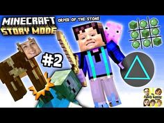 Lets Play Minecraft Story Mode #2: NO CHASE, No Triangles!!!! (Episode One: The Order of the Stone) - YouTube