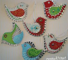 bird ornaments.