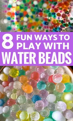 Sensory Activities: Water beads are the ultimate sensory play experience for kids! Try these 8 ways to play with water beads with your kids. Sensory Activities Toddlers, Sensory Bags, Sensory Bottles, Sensory Play, Infant Activities, Summer Activities, Preschool Activities, Sensory Table, Sensory Rooms